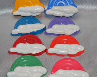 Rainbow Crayons,  Total of 8 Rainbow Crayons.  Bright Rainbow Crayons.  Boy or Girl Kids Unique Party Favors, Crayons.