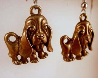 Puppy Earrings Basset hound