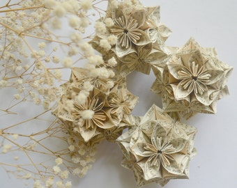 Book Pages Kusudama Balls For Household Decor & Photography Props