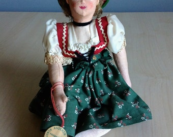 Souvenir German Bavarian Doll 1950