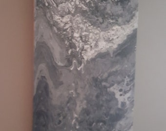 Static energy abstract acrylic on canvas