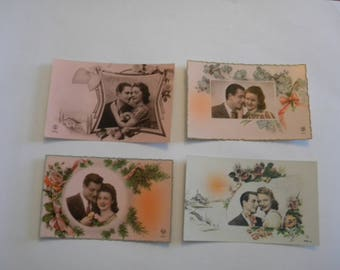 1930's French Postcards Set of 4