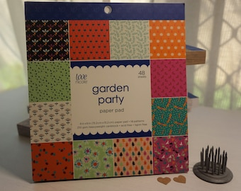 6x6 Paper Pack ~ Garden Party by Love Nicole ~ *Card-Making *Scrapbook Mini Albums
