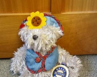 Pickford Brass Button Bear - Blossom Bear, the Bear of Wealth