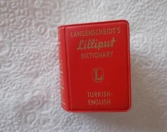 Langensheidts Lilliput miniature dictionary Turkish to English