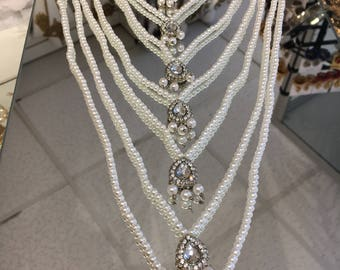 Long pearl bollywood necklace
