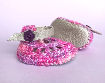 White Baby Girl Shoes, Ivory Crib Shoes, Spring Infant Sandals, Cream Crochet Booties, Summertime Newborn Soft Soles, New Baby Keepsake