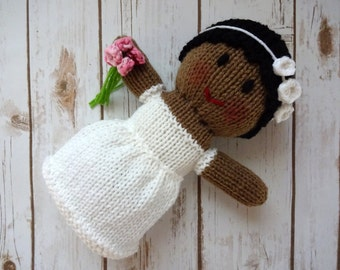 African American Bride Doll, African American Doll, Flower Girl Gift, Flower Girl Doll, Stuffed Doll, Wedding Decor, Decoration