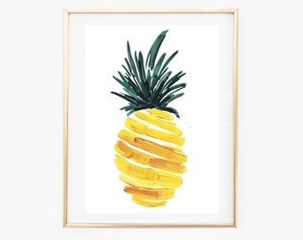 Wall Art Pineapple,Tropical Wall Art,Pineapple Art Print, Art Pineapple, Tropical Art Prints,Instant Download Printable Art,Modern Beach Art