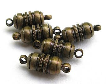 10 clasps magnetic aimentes 16 x 6 mm.