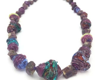 Ruby Magenta Glass necklace