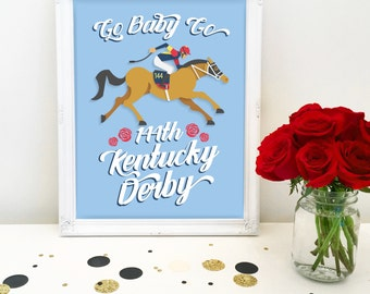 Kentucky Derby Party Sign, Printable, Go Baby Go, Horse Race Decoration, Decor, Run for the Roses, Racing, Jockey, Instant Download