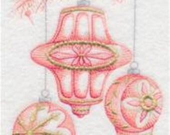 Ornaments Towel - Embroidered Towel - Christmas Towel - Toile Towel - Flour Sack Towel - Hand Towel - Bath Towel  - Apron