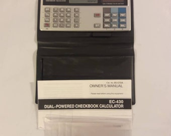Vintage Radio Shack Solar Powered Dual Powered EC-430 Calculator