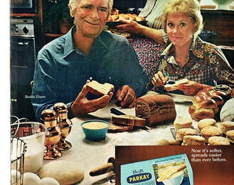 1973 Advertisement Buddy Ebsen For Soft Parkay Margarine Old Country Feeling Kitchen Restaurant Diner Barnaby Jones Celebrity Wall Art Decor