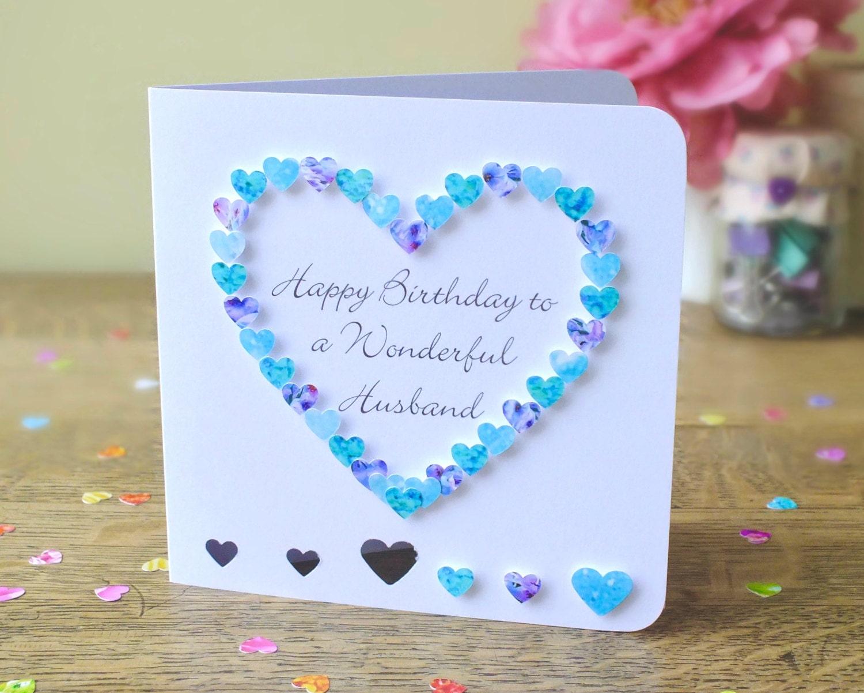 Husband birthday card handmade personalised birthday card zoom kristyandbryce Images