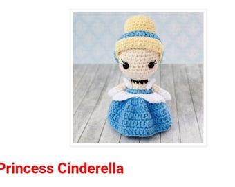 CINDERELLA - Amigurumi Pattern Crochet Doll Pattern Amigurumi Princess Pattern - Tutorial PDF - Plush Doll Girl