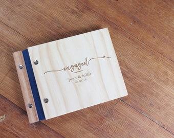Engagement Album, Our Story Album, Custom Wood Guestbook, Photo Album, Engagement Gift