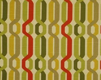 A New Twist Seaweed Green Trellis Fabric