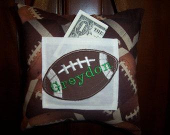 Football Tooth Fairy Pillow