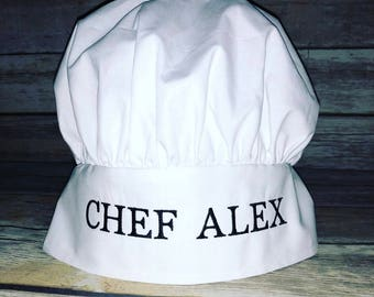 Top Embroidered chef hat | Etsy SN61