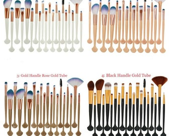 20Pcs Beauty Makeup Brushes Set Power Foundation Eye Shadow Contour Concealer Cosmetic Shell Make Up Brush Tools Kit Maquiagem gift for her