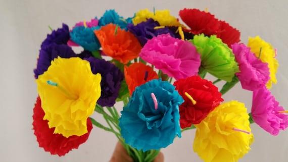 Day of the dead 10 crepe paper flowers dia de los muertos mightylinksfo Choice Image