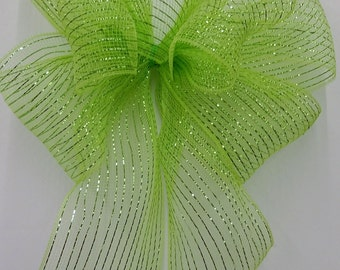 Lime Green Mesh Bow