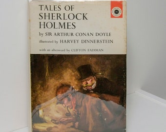 "Sherlock Holmes Book ""Tales of Sherlock Holmes"" First Edition 1963 Gorgeous Illustrations Sherlock Holmes Gift Doctor Watson Baskervilles"