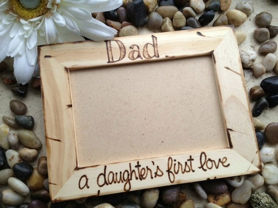 Custom Rustic Wood Pic Frame for Dad # \
