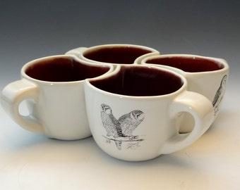 Nesting Mug Set, Owls