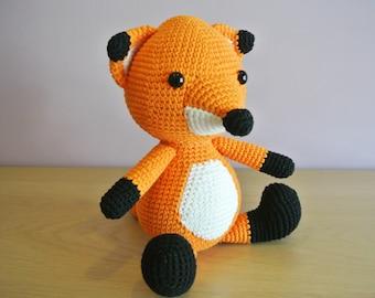 Chester Crochet Fox Amigurumi - Handmade Crochet Amigurumi Toy Doll - Fox Crochet - Amigurumi Fox - Woodland Animal