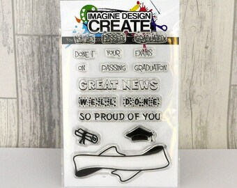 You've Passed A6 clear photopolymer stamp