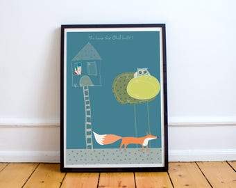 The Mysterious Ginger- Fox Digital  Illustration Print