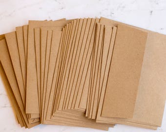 A4 envelopes, kraft or brown - perfect for 4 x 6 cards, GROCERY BAG