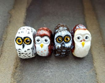 Worry Owl Model - fidget toy, anxiety relief, miniature