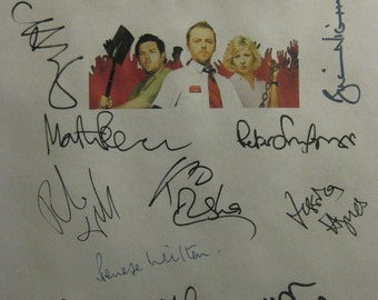 Shaun of the Dead Signed Film Movie Screenplay Script X16 Autograph Simon Pegg Nick Frost Kate Ashfield Martin Freeman Chris Martin Lucas