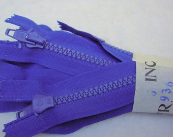 ZIPPERS three star brand -- royal blue -- bundle of 12 (7.5in)