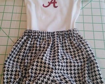 Alabama Crimson Tide Inspired Bloomers Set
