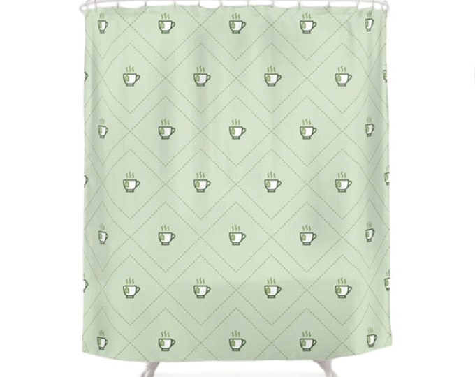 Tea Shower Curtain - Icon Prints: Drinks Series