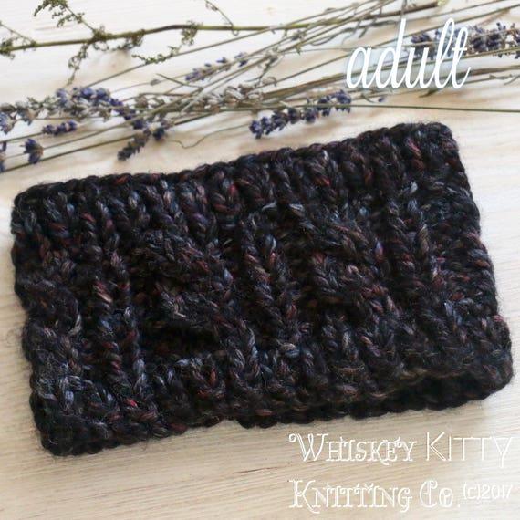 Stretchy Cable Knit Ribbed Headband Ear Warmer Head Warmer