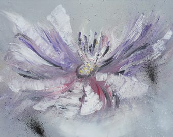 """""""Acrylic painting"""" violet breath"""