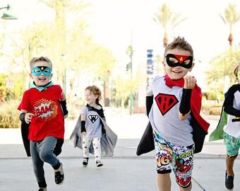 Personalized Superhero Children's Shirt, Hero Tee, Birthday Party Shirt, Superhero Party, Christmas Present, Hero T Shirt, Personalized Gift