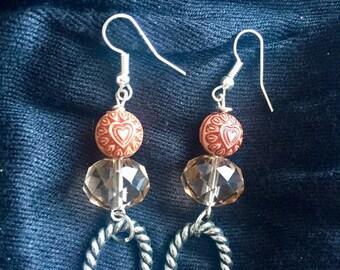 Handmade Hearts and Hoops Earrings