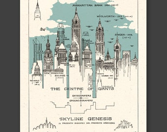 NEW YORK 1929 - Skyline Genesis - FREE shipping