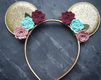 Boho Minnie Ears // Headband