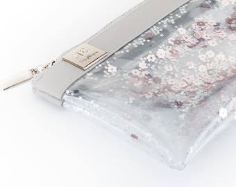 Small Gift for Her Travel  Cute Sweet 90s Gifts Gift Ideas for Women Travel Gift Bff Cute Clear Cosmetic Bag pencil case pouch Zipper Unique