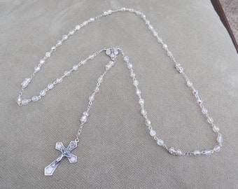 Clear glass/Crystal Rosary