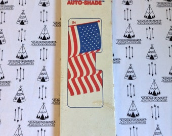 Stars and Shade~80's Car-Shade~Cardboard~American Flag~Unopened~Unused