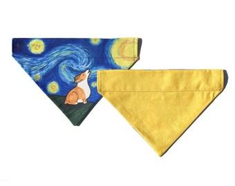 Corgi Bandana - Over the Collar Starry Baroo Corgi Bandana - Starry Night
